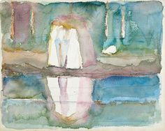 Edvard Munch: «Women by Water», 1920 (Watercolour, pencil) (The Munch Museum, Oslo)