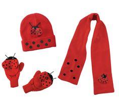 kids ladybug hat ladybug scarf ladybug mittens