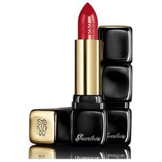 Guerlain Kisskiss Shaping Cream Lip Color/0.12 Oz. (125 BRL) ❤ liked on Polyvore featuring beauty products, beauty, lipstick, makeup and red