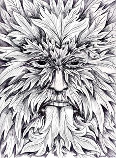 green man coloring pages - Google Search