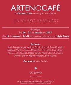 De 06 à 31/03 ♥ ArtenoCafé ♥ Exposição UNIVERSO FEMININO ♥ SP ♥  http://paulabarrozo.blogspot.com.br/2017/03/de-06-3103-artenocafe-exposicao.html