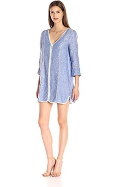 Joie Women's Warby Linen Dress, Washed Denim, Large ❤ Joie Women's Collection
