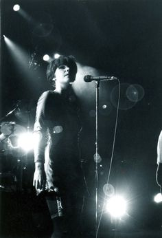 Young Björk (of the Sugarcubes) in Japan.  photo by Masao Nakagami