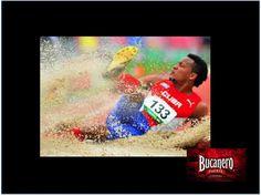CERVEZA BUCANERO. ¿Sabes en cuál disciplina fue la segunda medalla  de oro que se llevó Cuba? La segunda medalla de oro para Cuba fue en Salto Triple Varonil, donde Ernesto Reve con un registro de  16.94 y Lázaro Martínez con 16.91 hicieron el 1-2. www.cervezasdecuba.com
