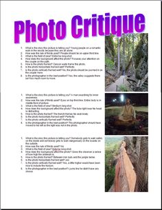 """5 lessons with lots of great info """"Photography for a Yearbook ~ Lesson 1"""""""