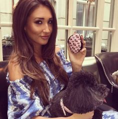 Megan Mckenna with the adorable Pug Love