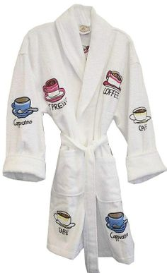 930ffaaf5b Coffee Applique  coffeelovers  coffee  bathrobes  aegeanapparel Just  Because Gifts