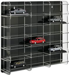 SORA 1/43 Model Car Display Case with black back-panel