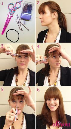 Tutorials On How To Cut Your Own Bangs