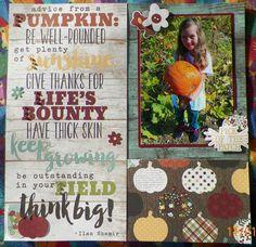 Handmade scrapbook layout: Pumpkin patch, Simple Stories-Pumpkin Spice