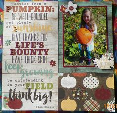 Handmade scrapbook layout:  Pumpkin patch, Simple Stories-Pumpkin Spice