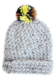 0da88cd31c5a Pom Pom hat at Leif Mode Enfant, Tricot, Pompons, Chapeau Avec Foulard,