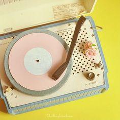 vintage disk player