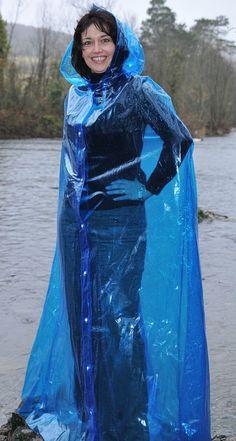 Lovely long pvc cape