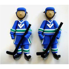 polymer clay - hockey players