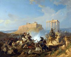 Battle scene from the Greek War of Independence