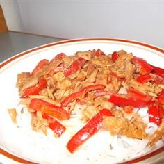 Slow Cooker Thai Pork with Peppers Recipe - picture doesn't do this recipe justice, great thai flavors!