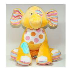 BABY GANZ Elephant Plush Stuffed Animal - SOFT Bright Yellow Orange Child's Toy…