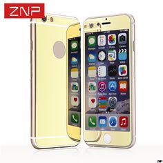 2 pcs/lot front + back Premium Mirror Electroplating Tempered Glass Screen Protector For iPhone 7 6 5 5s 4 4s Cover Cases