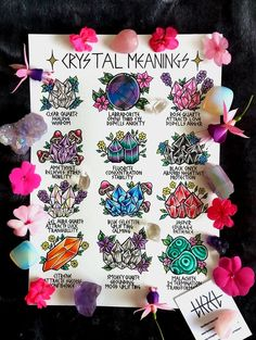 Crystals And Gemstones, Stones And Crystals, Chakra Crystals, Healing Crystals, Healing Stones, Inspiration Artistique, Crystal Tattoo, Theme Tattoo, Baby Witch