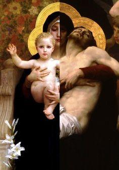 William-Adolphe Bouguereau: Vierge à l'Enfant, 1888 (Virgin and Child) William-Adolphe Bouguereau: Pietà, 1876 (Pieta)