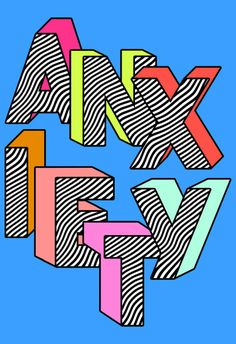 Anxiety Art Print by Tyler Spangler - X-Small Bedroom Wall Collage, Photo Wall Collage, Collage Art, Tyler Spangler, Hippie Painting, Small Canvas Art, Aesthetic Art, Word Art, Aesthetic Wallpapers
