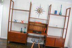MID Century Wall Unit Desk System Cocktail BAR Retro Vintage Sideboard Ladderax in Narre Warren, VIC   eBay