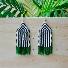HELLO!!! Welcome to The Craft Report BEADED FRINGE EARRINGS + Hand woven bead earrings + Light and comfortable to wear + 100% Japanese glass beads + Japanese nylon thread + Size = 85mm x 30mm including earwires + All earrings have been hand woven by me + Handmade = Beautiful