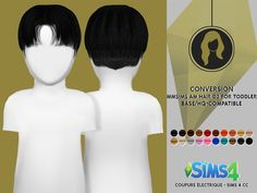 Coupure Electrique: Hair 03 reetxtured for toddlers  - Sims 4 Hairs - http://sims4hairs.com/coupure-electrique-hair-03-reetxtured-for-toddlers/