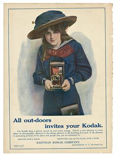 Credit: Martha Cooper Collection, 2011  All out-doors invites your Kodak: advertisement in Collier's magazine, 1911