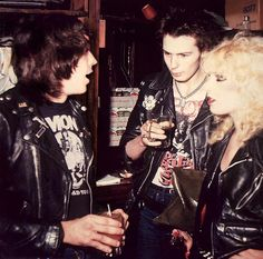 Marky Ramone with Sid & Nancy    New York 1978 most badass pic I've ever seen