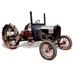 Model T Fords Converted Into Tractors - Tractors - Farm Collector Antique Tractors, Vintage Tractors, Vintage Farm, Antique Cars, Old Ford Trucks, Lifted Chevy Trucks, Ford Tractors, Pickup Trucks, Agriculture