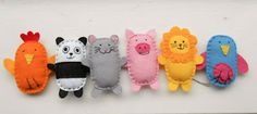 felt animals from simple oval shapes