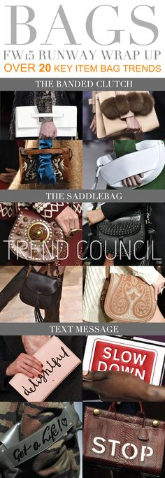 TREND COUNCIL F/W 2015- TEXT MESSAGE BAGS