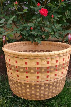 Woven Toy or Laundry Basket by BrightExpectations on Etsy
