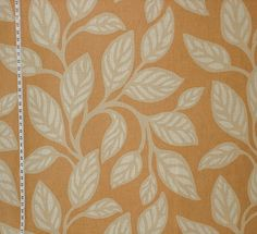 Vervain fabric modern leaves orange from Brick House Fabric: Novelty Fabric Interesting, like the colors.
