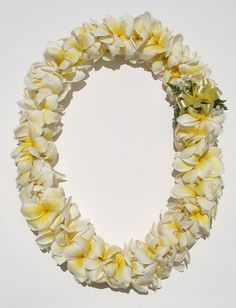 Plumeria.  This is like the lei M gave me when I arrived in Guam.