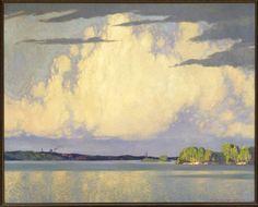 """Serenity, Lake of the Woods,"" Frank H. Johnston, 1922, oil on canvas, 40.25 x 50.5"", Winnipeg Art Gallery."