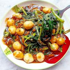 Healthy Eating Recipes, Cooking Recipes, Healthy Food, Mie Goreng, Malay Food, Zuchinni Recipes, Healthy Yogurt, Asian Cooking, Vegetable Recipes