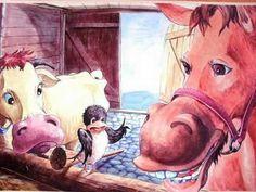 "Poveste de primavara ""Puiul de randunica"" - YouTube Horses, Painting, Animals, Youtube, Animales, Animaux, Painting Art, Paintings, Animal"