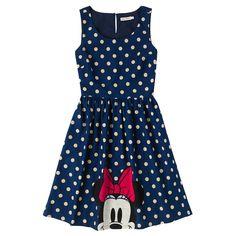 Minnie & Mickey Spot Barkcloth Dress   Mickey Mouse x Cath Kidston   CathKidston