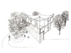 yellow house Alison and Peter Smithson Alison And Peter Smithson, Arch House, Yellow Houses, Tree Houses, Tapestry, Interiors, Architecture, Drawings, Sketches