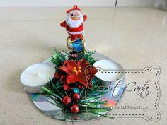 Art-Carta : Świąteczny świecznik na płycie CD (5)