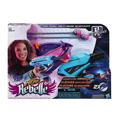 NERF Rebelle Courage Crossbow with 2 Whistling Arrows Blaster Foam Tips NEW! #Nerf