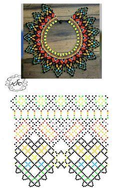 Beaded beads tutorials and patterns, beaded jewelry patterns, wzory bizuterii koralikowej, bizuteria z koralikow - wzory i tutoriale Diy Necklace Patterns, Bead Loom Patterns, Peyote Patterns, Beading Patterns, Beading Tutorials, Beaded Jewelry Designs, Seed Bead Jewelry, Bead Jewellery, Beading Jewelry
