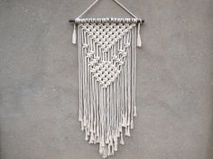 Macrame wall decor Rope wall hanging Bohemian decor Christmas gift for aunt Unusual gift for grandmother Birthday Vintage style home decor