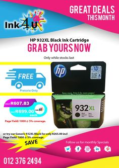 HP 932XL Black | HP 953XL Black | HP 957XL Black some of ink4u 's fast movers, Generic Products Also Available for those who wants to save money.