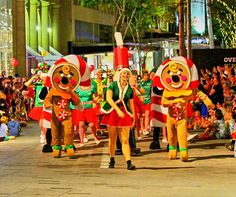 Where is it: Queen Street Mall and parading through to King George Square What's it all about: A wonderful Christmas-themed parade of dancing, music and even reindeers! How can I join in: Get in to the mall and save your spot along the route Brisbane Cbd, Pantomime, Street Mall, King George, Christmas Themes, Reindeer, Dancing, Join, Queen