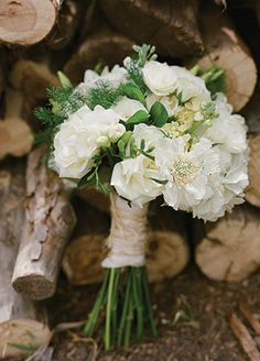 White Rustic Floral Arrangements | Laura Murray Photography | blog.theknot.com