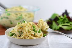Vegetarian Spaghetti Carbonara  use Gluten Free Pasta to make this Gluten Free-make sure you do not sub in blue cheese, as blue cheese is NOT GF...